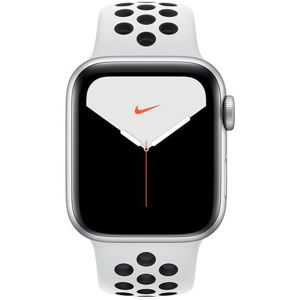 Apple Watch Nike Series 5 GPS, 40mm Silver Aluminium Case with Pure Platinum/Black Nike Sport Band MX3R2VR/A