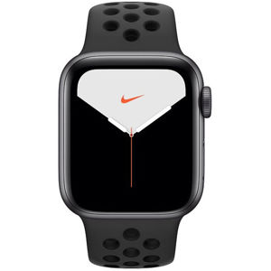 Apple Watch Nike Series 5 GPS, 44mm Space Grey Aluminium Case with Anthracite/Black Nike Sport Band - S/M & M/L MX3W2VR/A