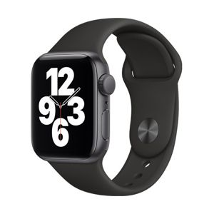 Apple Watch SE GPS, 40mm Space Gray Aluminium Case with Black Sport Band - Regular MYDP2VR/A