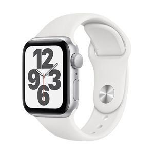 Apple Watch SE GPS, 44mm Silver Aluminium Case with White Sport Band - Regular MYDQ2VR/A