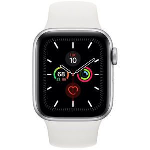 Apple Watch Series 5 GPS, 44mm Silver Aluminium Case with White Sport Band - S/M & M/L MWVD2VR/A