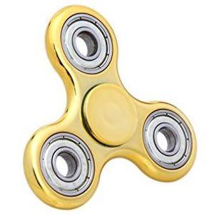 Fidget Spinner, metalická zlatá vyknew