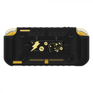 HORI Pikachu Hybrid System Armor for Nintendo Switch, black gold NSPL101