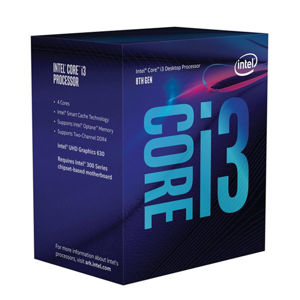 INTEL Core i3-8100, LGA 1151 BX80684I38100