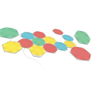 Modulárne smart osvetlenie Nanoleaf Shapes Hexagons Starter Kit, 15 panelov NL42-6002HX-15PK