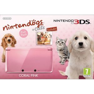 Nintendo 3DS Nintendogs & Cats Pink Pack, coral pink CTR-S-PAAJ