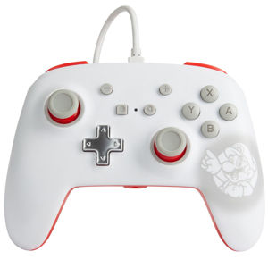 PowerA Enhanced Wired Controller - Mario White for Nintendo Switch