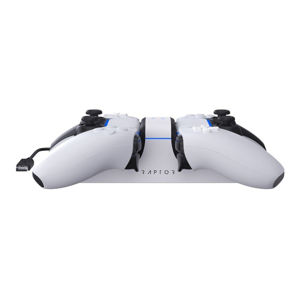 Raptor Gaming CS200 Dual Charging Station for PS5, white