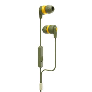 Skullcandy Ink'd + Earbuds with Microphone, elevated olive S2IMY-M687